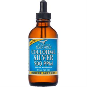 Natural Path Silver Wings Colloidal Silver 4 oz, 500 ppm, 48 Servings