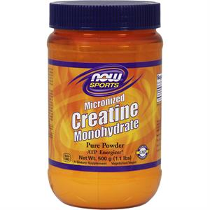 NOW Sports Creatine Monohydrate Powder, Micronized 500 gm - 100 Servings