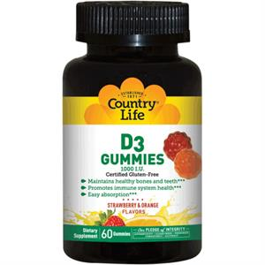 Country Life D3 120 Strawberry Orange GUMMIES