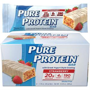 Pure Protein Strawberry Greek Yogurt Style High Protein Bar - 12 Bars