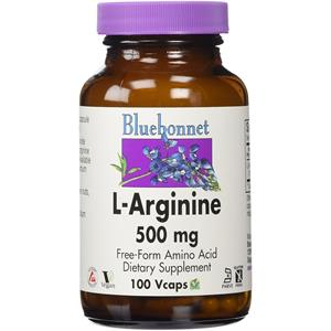 Bluebonnet L-Arginine 500 mg - 100 Vegetable Capsules