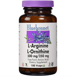 Bluebonnet L-Arginine / L-Ornithine 500 mg / 250 mg - 100 Vegetable Capsules
