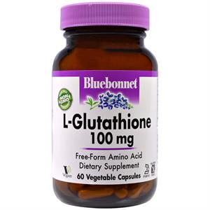 Bluebonnet L-Glutathione 100 mg - 60 Vegetable Capsules