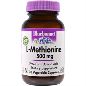 Bluebonnet L-Methionine 500 mg - 30 Vegetable Capsules