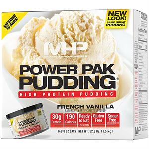 MHP Power Pak Pudding French Vanilla, 6 - 8.8 oz Cans