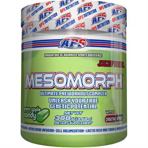 APS Mesomorph Pre-Workout Complex GREEN APPLE CANDY Flavor 388 gm