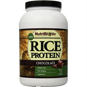 NutriBiotic Vegan Rice Protein Chocolate 3 lb - 90 Servings