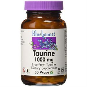 Bluebonnet Taurine 1000 mg - 50 Vegetable Capsules