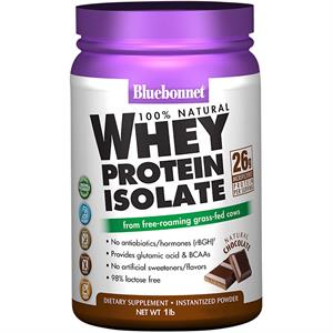 Bluebonnet 100% Natural Whey Protein Isolate Powder - Chocolate 1 lb