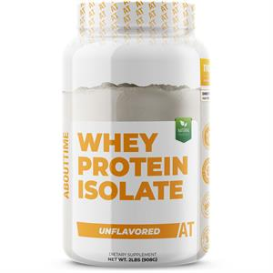 About Time 100% WHEY PROTEIN ISOLATE Unflavored 2 lb