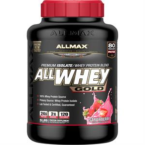 Allmax Nutrition AllWhey Gold Protein Powder Strawberry 5 lb