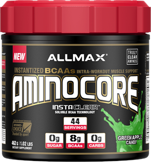 Allmax Nutrition AMINOCORE Green Apple Candy 462 gm - 44 Servings