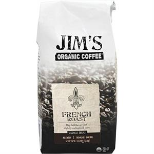 Jim's Organic Coffee French Roast Whole Bean 11 oz