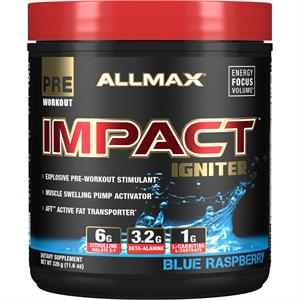 Allmax IMPACT IGNITER Explosive Pre-Workout Blue Raspberry 328 gm
