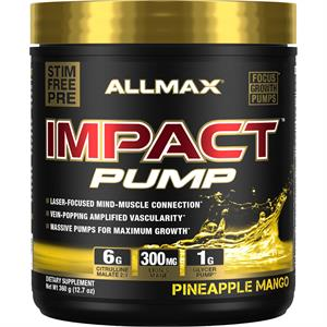 Allmax Nutrition IMPACT PUMP Stimulant Free Pre-Workout Pineapple Mango