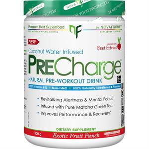 NovaForme PreCharge NATURAL Pre-Workout - Exotic Fruit Punch 300 gm