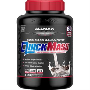 Allmax QUICKMASS GAINER Cookies & Cream 6 lb - Up To 20 Servings