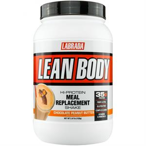 Labrada Nutrition Lean Body Meal Replacement Shake Chocolate Peanut Butter 2.47 lb - 16 Servings