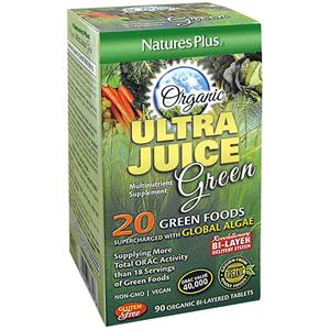 Nature's Plus Ultra Juice Green 90 Bi-Layered Tablets - 45 Servings