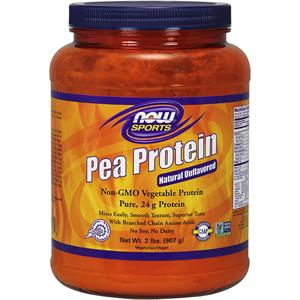 NOW Sports Pea Protein Powder Unflavored 2 lb - 27 Servings