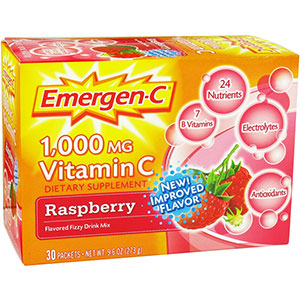 Emergen-C Vitamin C Energy Booster Raspberry 1000 mg - 30 Packets