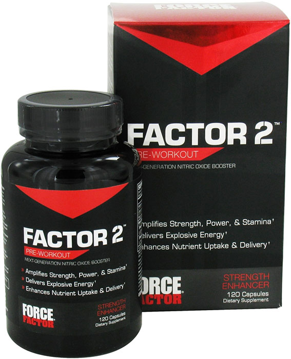 Force Factor 2 Pre Workout 120 Capsules