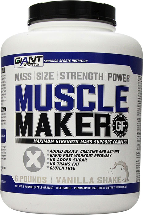 afc754ff Giant Sports Muscle Maker Weight Gainer Vanilla Shake 6 lb