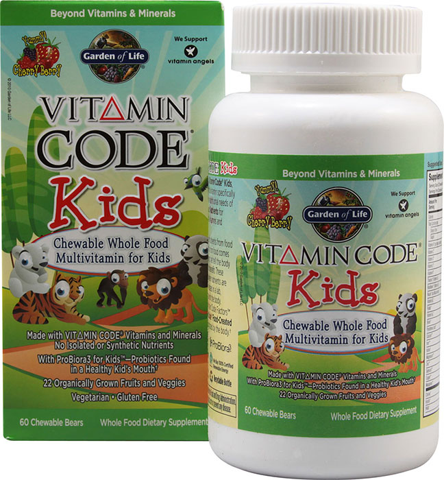 Garden of life vitamin code kids 60 chewable bears 30 - Garden of life vitamin code kids ...