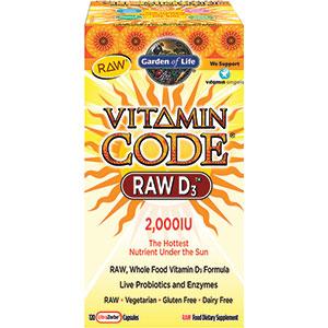 Garden of life vitamin code raw d3 2 000iu 120 capsules - Garden of life multivitamin review ...