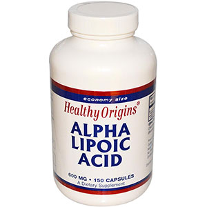 Healthy Origins Alpha Lipoic Acid 600 mg - 150 Capsules