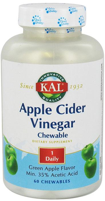 Kal Apple Cider Vinegar Green Apple Flavor 60 Chewable Tablets