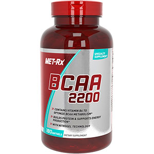 MET-Rx BCAA 2200 Post-Workout 180 Softgels