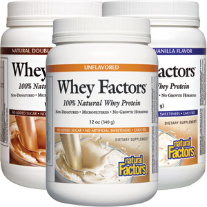 Natural Factors Whey Factors Protein 12 oz - 17 Servings