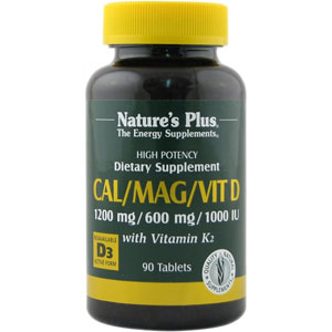 Nature's Plus Cal/Mag/Vit D3 with Vitamin K2 Tablets