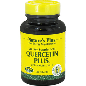 Nature's Plus Quercetin Plus with Vitamin C & Bromelain 90 Tablets