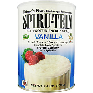 Nature's Plus Vanilla SPIRU-TEIN Shake 2.4 lb - 32 Servings