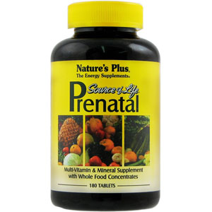Nature's Plus Source of Life Prenatal - 180 Tablets