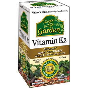 Nature's Plus Source of Life Garden Vitamin K2 120 mcg - 60 Vcaps