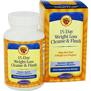 Nature's Secret 15-Day Weight Loss Cleanse & Flush 60 Tablets, 30 Servings