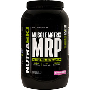 NutraBio Muscle Matrix MRP Strawberry Smoothie 2.4 lb