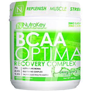 NutraKey BCAA Optima Recovery Complex Green Apple Blast 441 gm