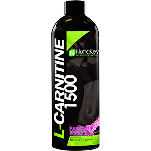 Nutrakey Liquid L-Carnitine 1500 Passion Berry 16 oz - 31 Servings