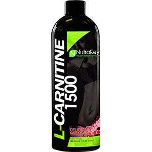 Nutrakey Liquid L-Carnitine 1500 Delicious Watermelon 16 oz - 31 Servings