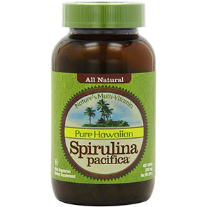 Nutrex Hawaii - Hawaiian Spirulina Pacifica 500 mg - 400 Tablets, 66 Servings