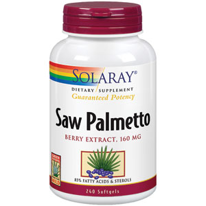 Solaray Saw Palmetto Berry Extract 160 mg 240 Softgels