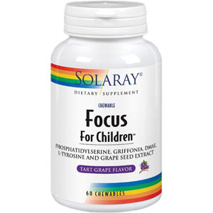 Solaray Focus For Children 60 Chewable Tablets
