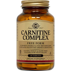 Solgar Carnitine Complex 60 Tablets - 30 Servings