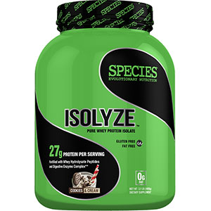 Species Nutrition ISOLYZE: 100% PURE WHEY PROTEIN ISOLATE - Cookies and Cream 3.1 lbs