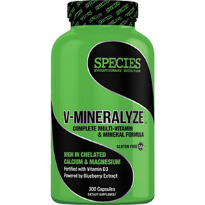 Species Nutrition V-Mineralyze Multi-Vitamin and Mineral Formula 300 Capsules - 30 Servings