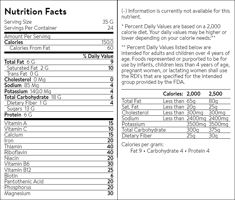 Tiger's Milk Nutrition Bar 35 gm, 6 gm